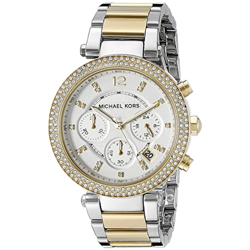 e4fe6f1324e9 Michael Kors Women s 39mm Two-Tone Gold and Silver Parker Watch