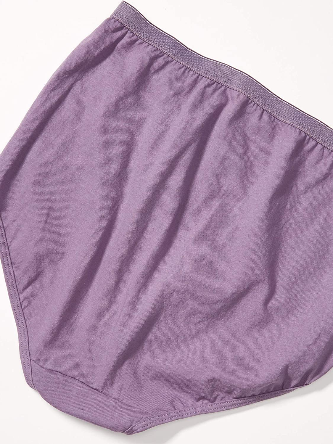 JUST MY SIZE Women's Plus Size Cool Comfort Cotton High Brief 6-Pack