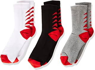 Wilson Youth Crew Sock, Pack of 3 Pairs, Multicolor, 35-38 EU