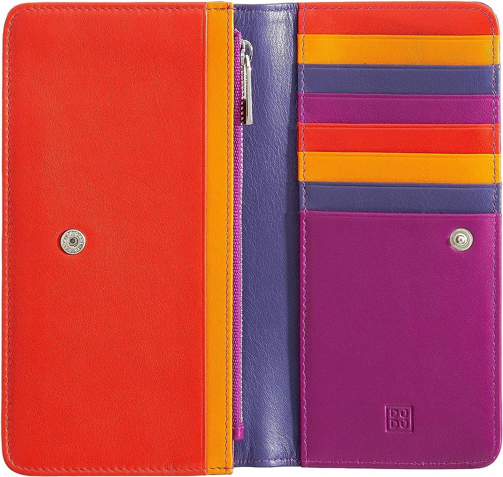 Dudu, portafoglio in pelle morbida, multicolore da donna, protezione rfid, porta carte di credito 8031847130010