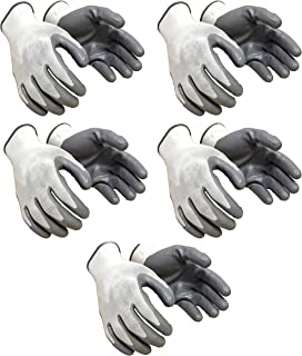 Klaxon Nylon Safety Hand Gloves | Anti Cut | Cut Resistant | Industrial | Domestic Hand Gloves (5 Pair)