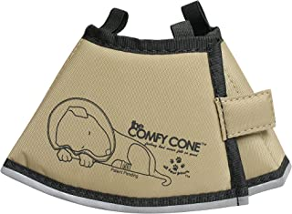 All Four Paws Comfy Cone Pet Collar, X-Small, Tan,X-Small