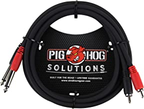 Pig Hog PD-R1403 Dual RCA (Male) to Dual 1/4