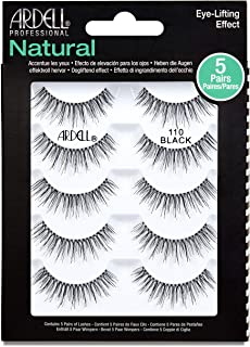 Ardell False Eyelashes Natural 110 Black, 1 pack (5 pairs per pack)