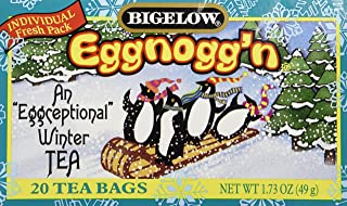 Bigelow Limited Edition Tea Eggnogg'n 20 Bags Per Box Pack of 3 Boxes