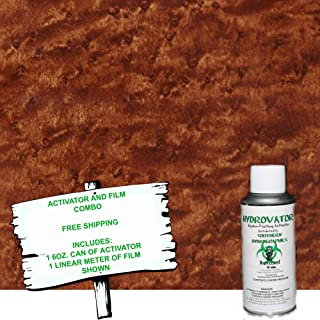 Hydro Dip - Hydrographic Film - Water Transfer Printing - Hydro Dipping - 6oz. Activator with WALNUT WOOD 1 KIT