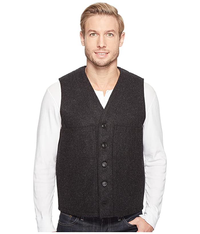 1910s Men's Working Class Clothing Filson Mackinaw Wool Vest Charcoal Mens Vest $150.00 AT vintagedancer.com