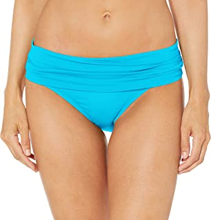 La Blanca Women's Island Goddess Shirred Band Hipster Bikini Swimsuit Bottom