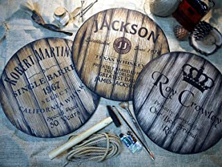 Insegne Decorative Personalizzate, 3 Diversi Stili di Whisky di Vino e Botti di Birra tra cui Scegliere, Regali Personaliz...