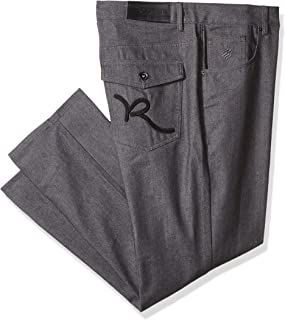 Rocawear Men's Big and Tall R Script Flap Jean