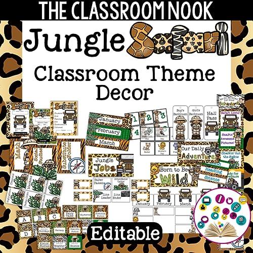 Jungle Safari Classroom Decor (Printable and Editable)