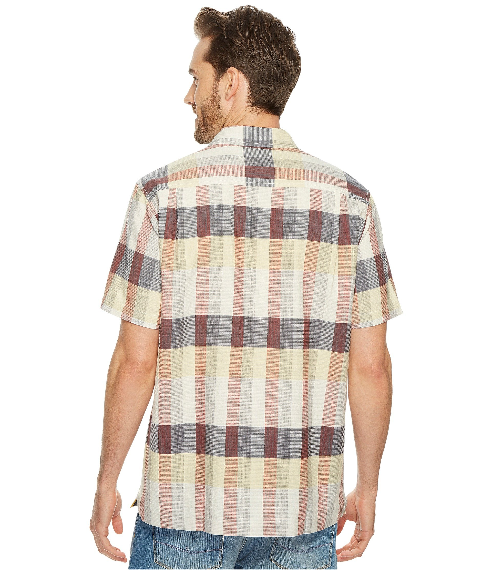 Tommy bahama tamuda bay plaid shirt at for Do tommy bahama shirts run big