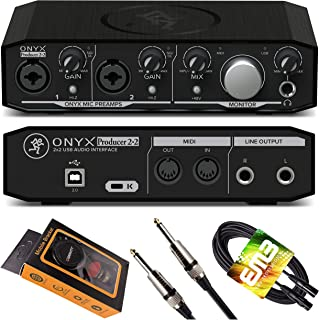 Mackie Onyx Producer 2-2 USB Audio Interface 24-bit/192kHz, with 2 Onyx Mic Preamps, Zero-Latency Direct Monitoring, MIDI ...
