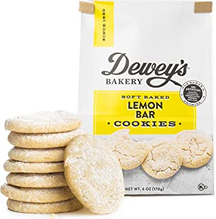 Dewey's Bakery Lemon Bar Soft Baked Cookies | Baked in Small Batches | Real, Simple Ingredients | Southern Bakery Recipe | 6 oz (Pack of 3)