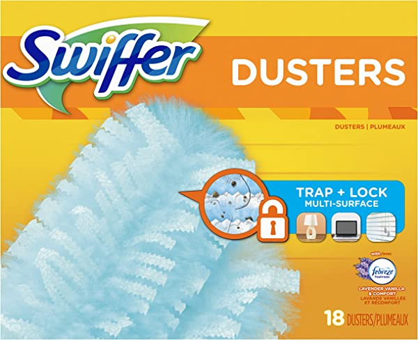 Swiffer 180 Dusters Multi Surface Refills With Febreze Lavender Vanilla Comfort Scent 18 Count