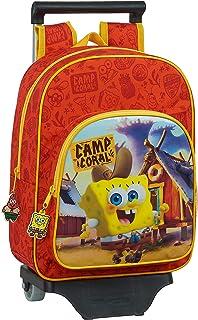 612083020 Mochila Infantil de Bob Esponja con Carro, Naranja/Amarillo, Único