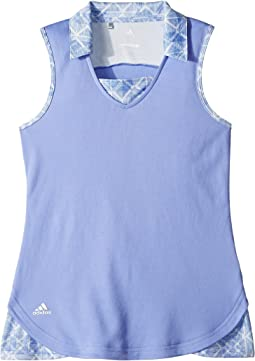 adidas Golf Kids - Fashion Print Sleeveless Polo (Big Kids)