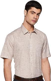 Amazon Brand - Symbol Men's Solid Regular Fit Half Sleeve Formal Shirt