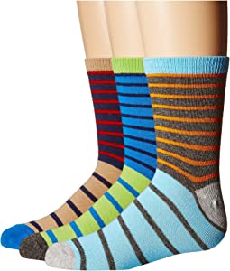 Stripe Crew Socks 3-Pair Pack (Toddler/Little Kid/Big Kid)