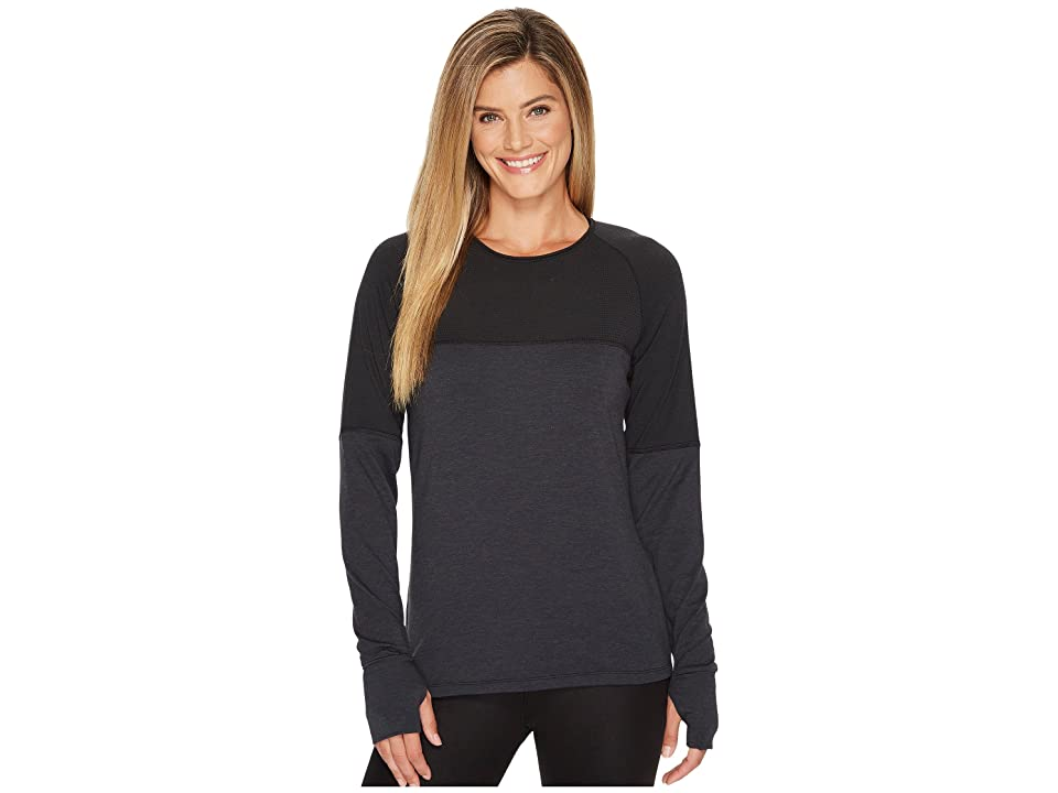 Skirt Sports Wonder Wool Long Sleeve (Black Wool) Women