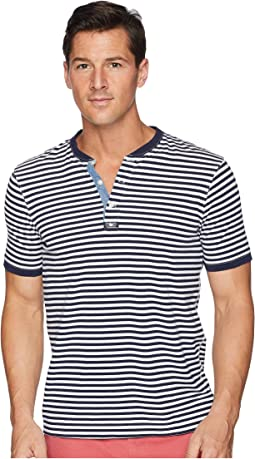 Yarn-Dyed Striped Henley