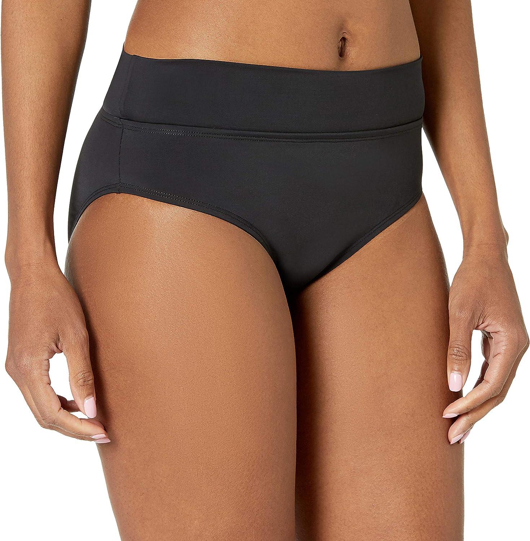 Skye Women's Mid Waist Full Coverage Bikini Bottom Swimsuit