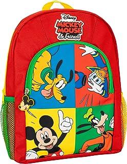 Mochila para Niños Mickey Mouse Donald Duck Pluto Goofy Rojo