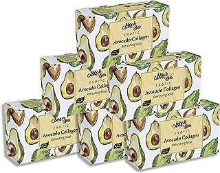 Mirah Belle - Organic Avocado Collagen Soap Bar (Pack of 6-125 gm) - Anti-Aging, Skin Tightening, Smoothening. Good for Du...