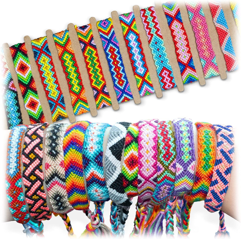 Novelty Place 10 Pcs Woven Product Bracelet Girls Manufacturer regenerated product Women Kids for Bulk