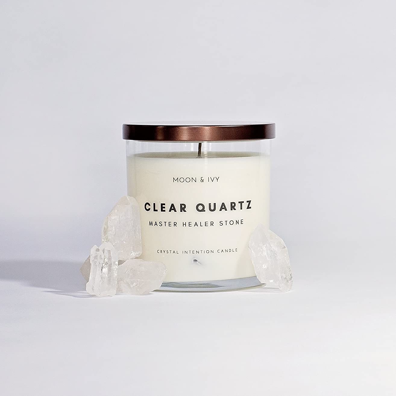Moon & Ivy Crystal Candle Clear Quartz