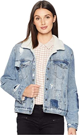 Denim and Sherpa Trucker Jacket in Ice Road Trucker