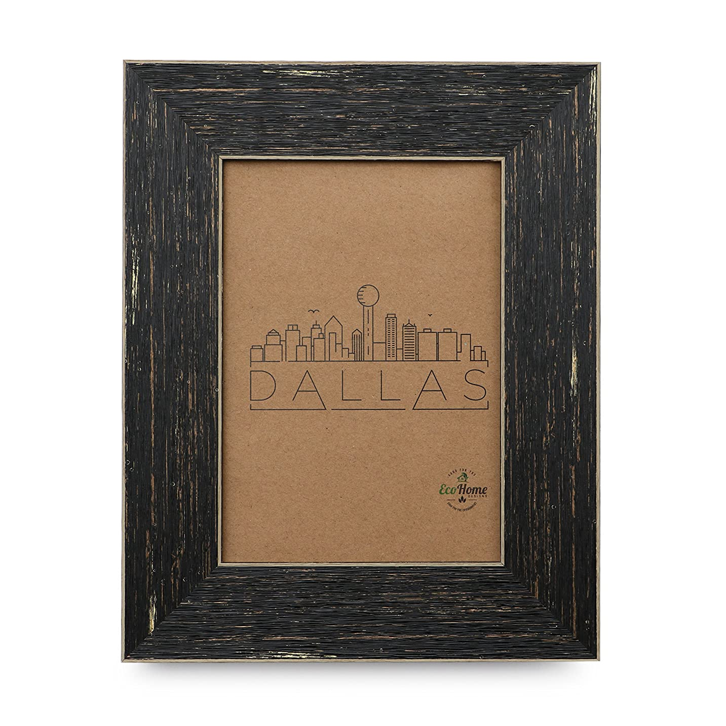 5x7 Picture Frame Barnwood Brown - Dark Reclaimed Wood Finish, Distressed, Mount or Desktop Display, Frames by EcoHome viuinxx077