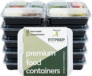 FITPREP® Original 3 Fach Meal Prep Container 10er Pack Komp