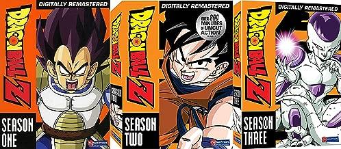 Dragonball Z Bundle - Season One (Vegeta Saga), Two Namek and Captain Ginyu Sagas) & Three (Frieza Saga) 18-DVD Set