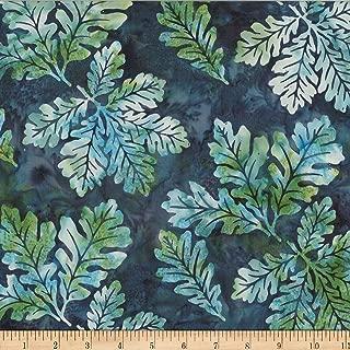 Hoffman Fabrics Hoffman Bali Batik Oak Leaves Sea Urchin Fabric