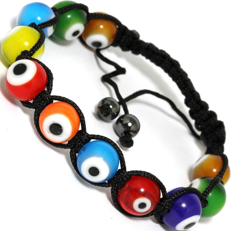 AnsonsImages Shamballa Inspired Bracelet Eye Ball Multi Color Bl