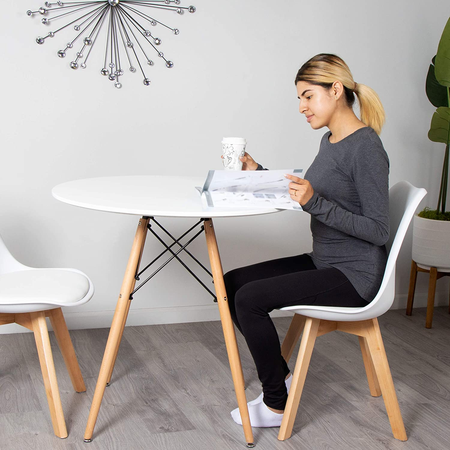 Milliard Dining Table – Small, Round, Dining Room Table   for 9 to 9 People