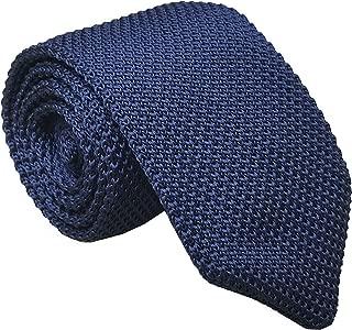 Men's Skinny Knit Tie Vintage Solid Color Casual Formal Designer Necktie 2.75