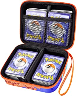 ALKOO Carrying Case Holder Compatible with Pokemon Trading Card, Holds 405 PM TCG Cards with Wrist Strap