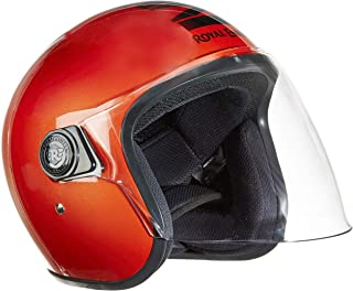 Royal Enfield Gloss Orange Open Face with Visor Helmet Size (XL)60 CM (RRGHEL000060)