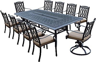 Amazon.com: TK Classics Barbados, mesa de comedor ...