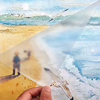 "Clear Matte Adhesive Film Clear Protective Vinyl Book Covering Film for Crafts Transfer Tape Paper Privacy Window Film Self Adhesive Peel and Stick Shelf Liner Drawer Liner 17.7""x9.8'"