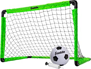 Franklin Sports 3' Insta Soccer Goal Set, Neon Green, 36