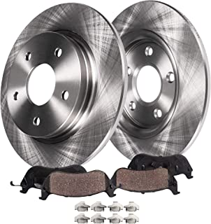 Rear E-Coated Disc Brake Rotor 2PCS For 1998-2004 Cadillac Seville