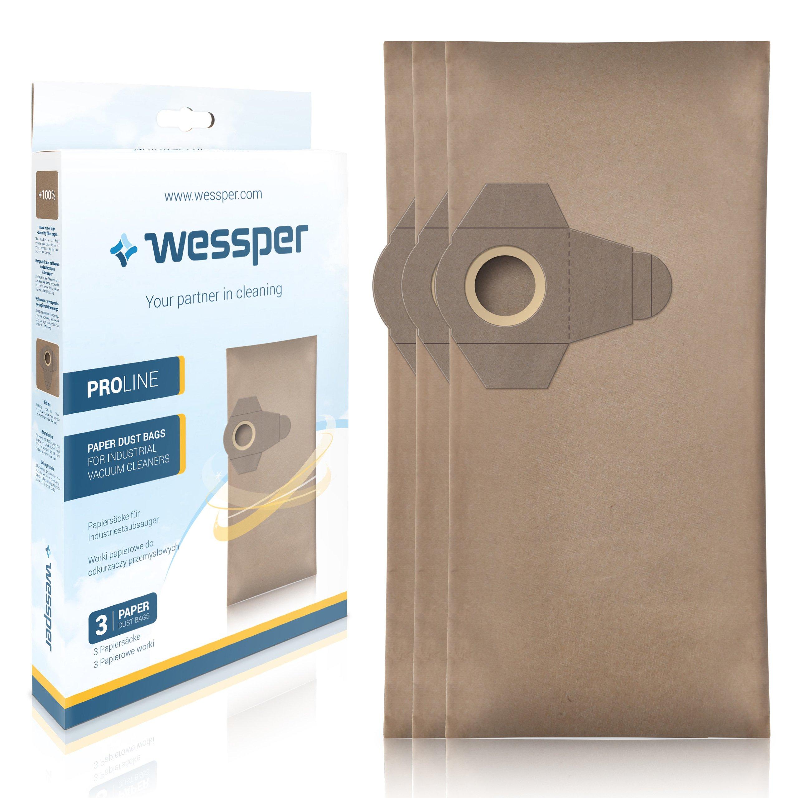 Wessper Bolsas de aspiradora para LIDL Parkside PNTS 1400 B2 (3 Piezas, Papel): Amazon.es: Hogar