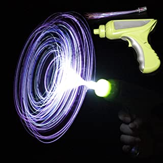 Fun Central AJ211 LED Light Up Fiber Optic Rainbow Gun - for Neon Party, Rave Party, Birthday Party, Halloween Party, Christmas Party, New Year's Eve