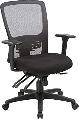 Lorell High-Back Mesh Chair, Black