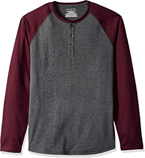 Amazon Essentials Men's Regular-Fit Long-Sleeve Henley Shirt