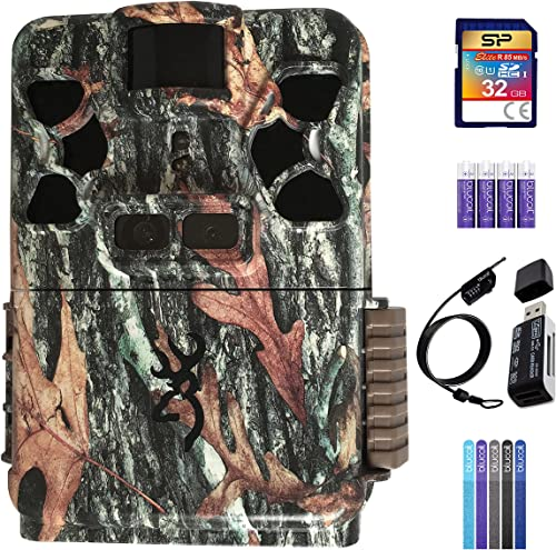 wholesale Browning BTC-Patriot-FHD Recon Force Patriot outlet online sale Trail Camera sale Bundle with 32GB SDHC Memory Card, Blucoil 4 AA Batteries, 6.5' Cable Lock, 5-Pack of Reusable Cable Ties, and VidPro USB 2.0 Card Reader online sale