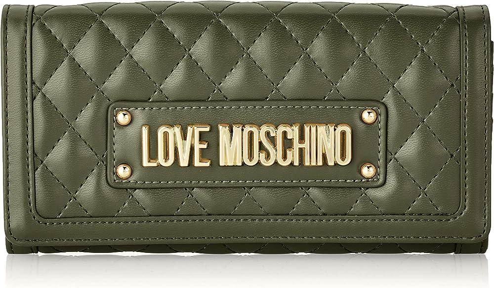 Love moschino quilted portafogli porta carte di credito in pelle sintetica JC5640PP07KA1